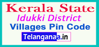Idukki District Pin Codes in Kerala State