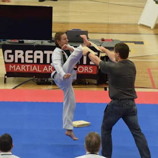 2018 Winter Badger State Games Jump Front Breaking Greatmats Martial Arts Mats