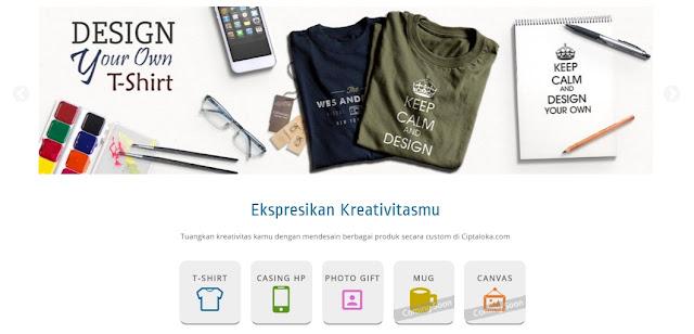 Desain Kaos Online Sendiri Mudah Dan Berkualitas di Ciptaloka.com
