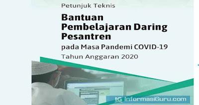 Download Juknis Bantuan Pembelajaran Daring Pesantren pada Masa Pandemi COVID-19 Tahun Anggaran 2020