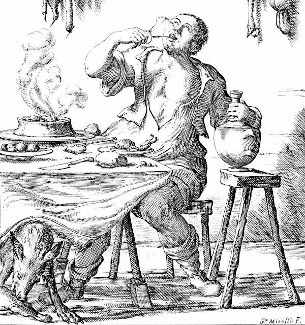 a 1675 etiquette glutton illustration
