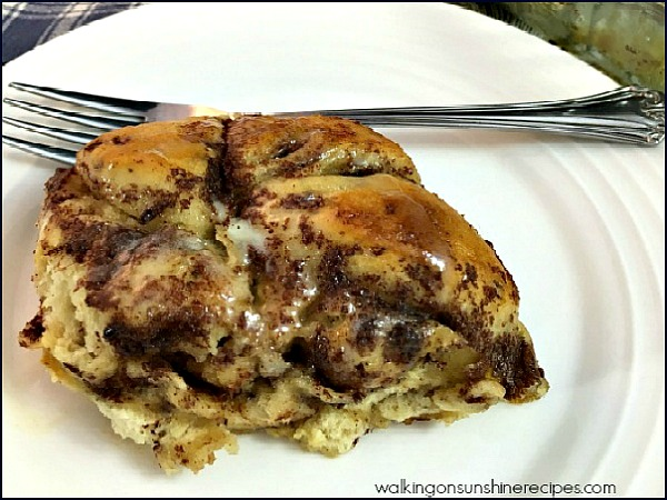 Cinnamon Roll Breakfast Casserole from Walking on Sunshine Recipes