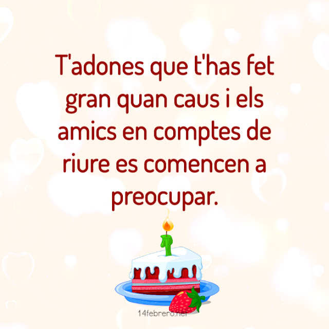felicitar aniversaris en català