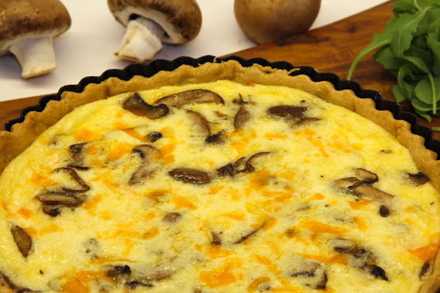 Leek, Mushroom and Cheese Quiche