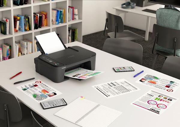 Imprima, digitalize e copie sem esforço com a série Canon PIXMA TS3450, uma impressora de nível básico, compacta e fácil de utilizar