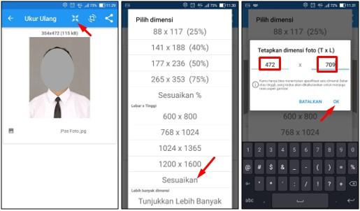 Cara Membuat Ukuran Pas Foto Menjadi 2x3 3x4 4x6 di Android