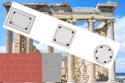 أي شكل هندسي أقوى؟ عمود مربع أو مستطيل أو دائري