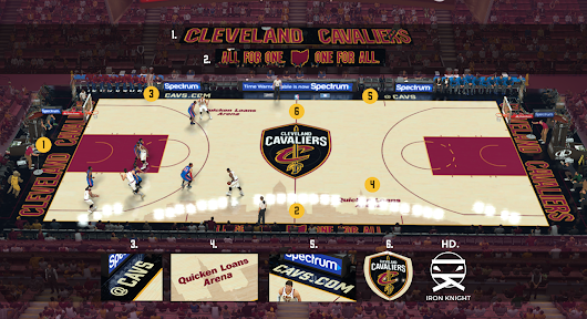 Quicken Loans Arena (Cleveland Cavaliers) 2017-2018 Official Court for NBA 2K17