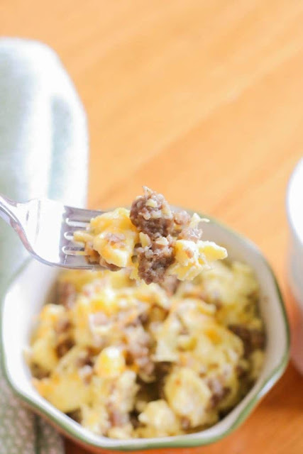 10 healthy breakfast ideas sausage and egg breakfast bowl