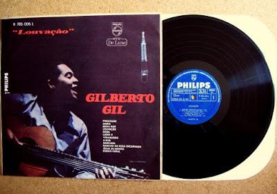Capa do disco Louvação, de Gil