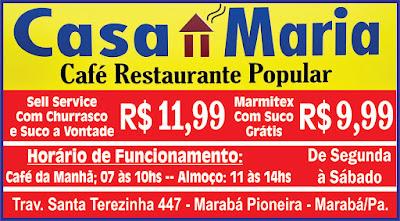 RESTAURANTE MARIA -- Venha Conhecer o mais Novo Restaurante da Cidade....