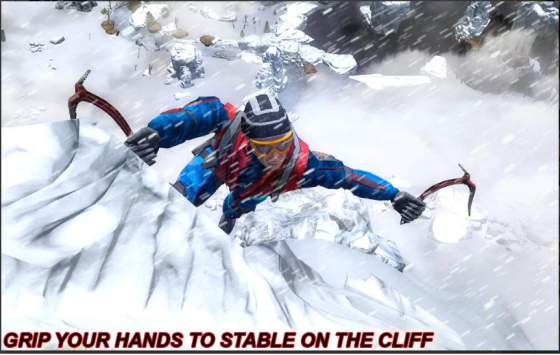 Game Mendaki Gunung Android: Snow Cliff Climbing MOD Apk
