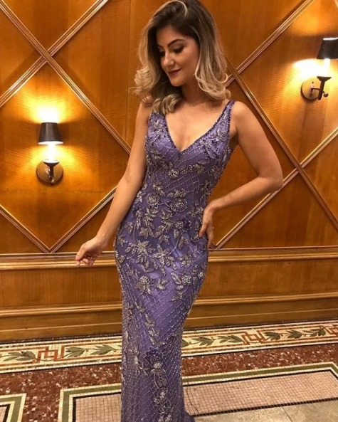 vestido de festa lilás roxo