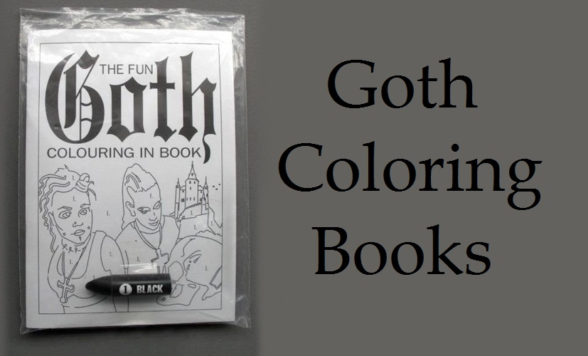 Coloring Pages Of Gothic Princesses : The everyday goth goth coloring books