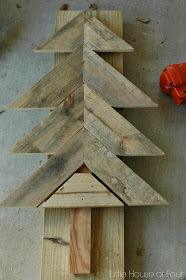 piecing together pallet tree
