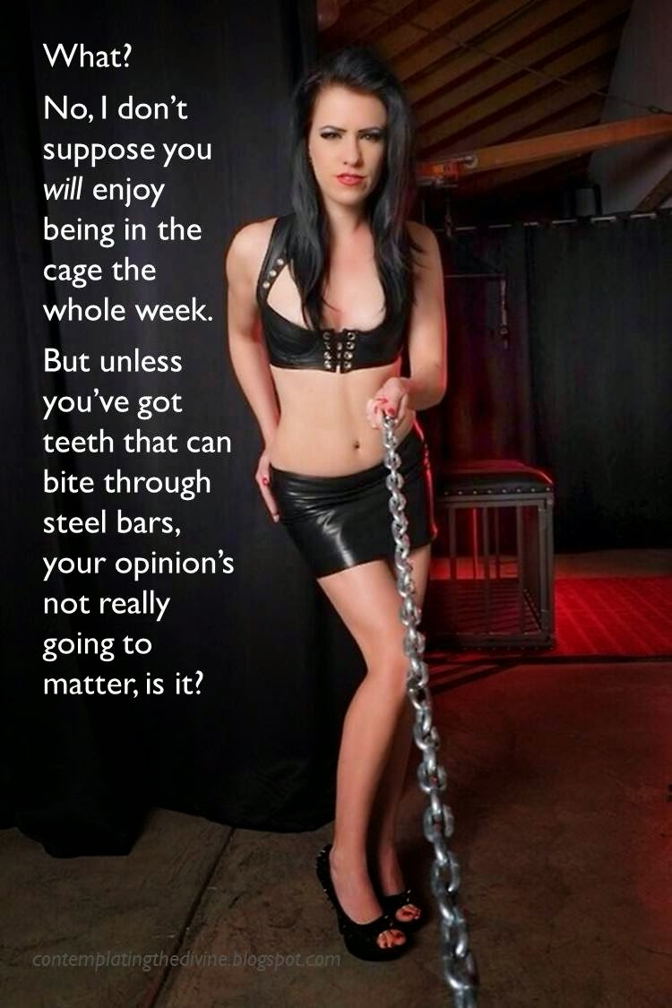 Chastity cage slave