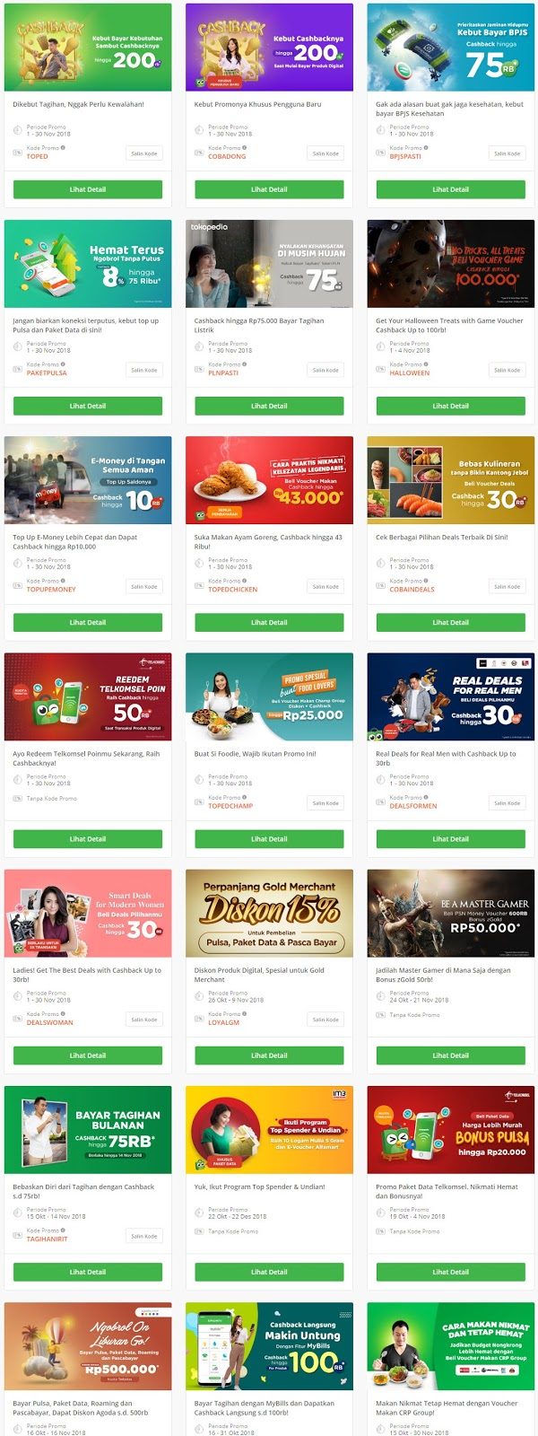 Tokopedia - Promo Pembayaran & Produk Digital Bulan November 2018