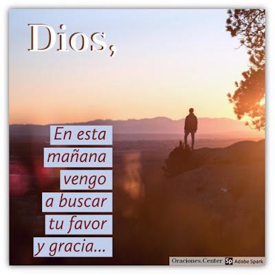 Oración de la Mañana por Favor y Gracia de Dios