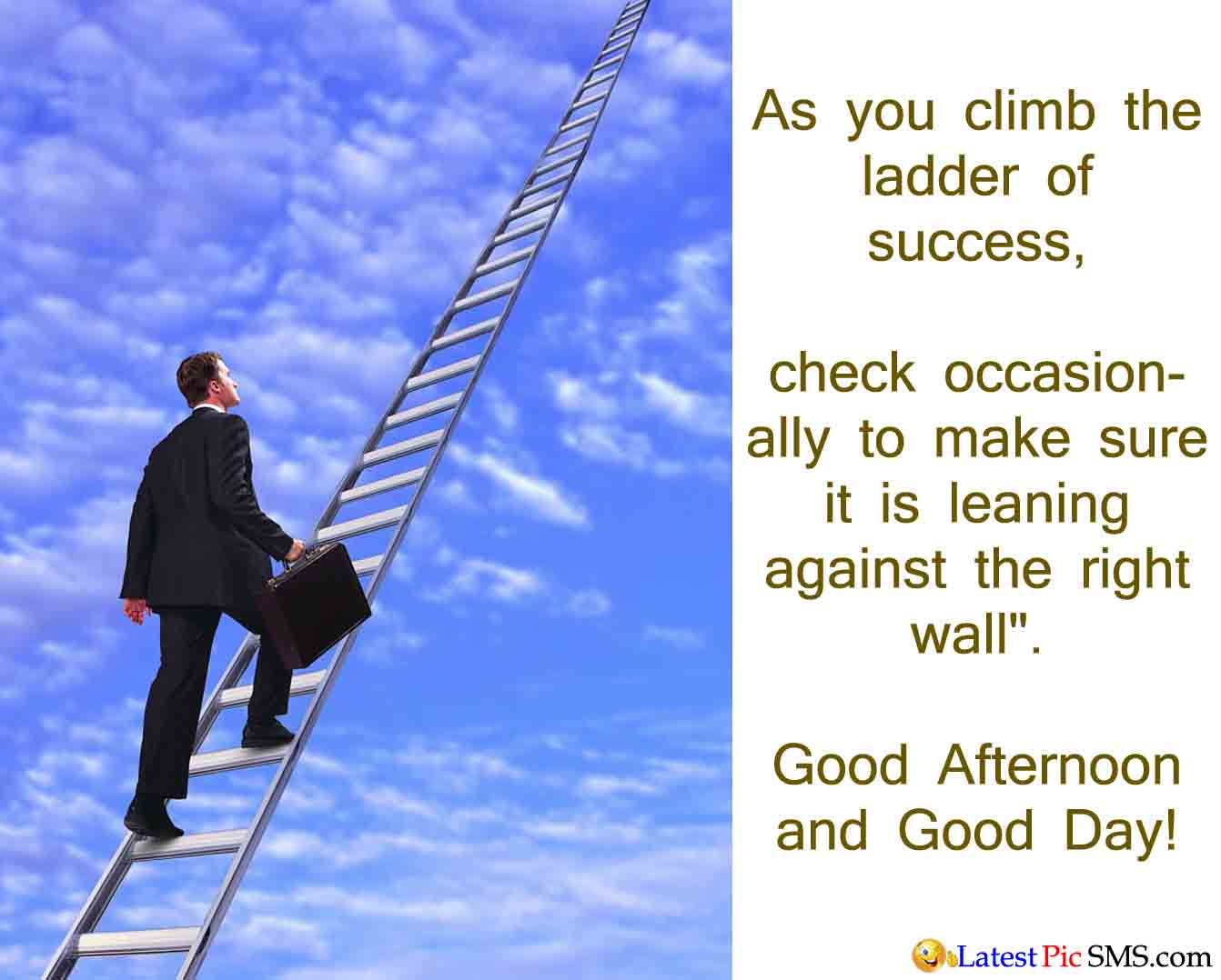 ladder of success Ladder of success this song is by the kinks now the race has begun you are strong and you are young it's your choice, it's up to you.