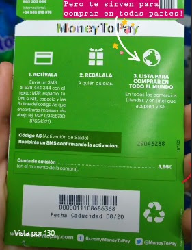 moneytopay gift cards comision