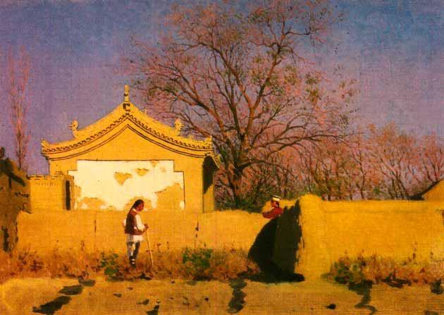 Василий Васильевич Верещагин - Китайский домик. 1870