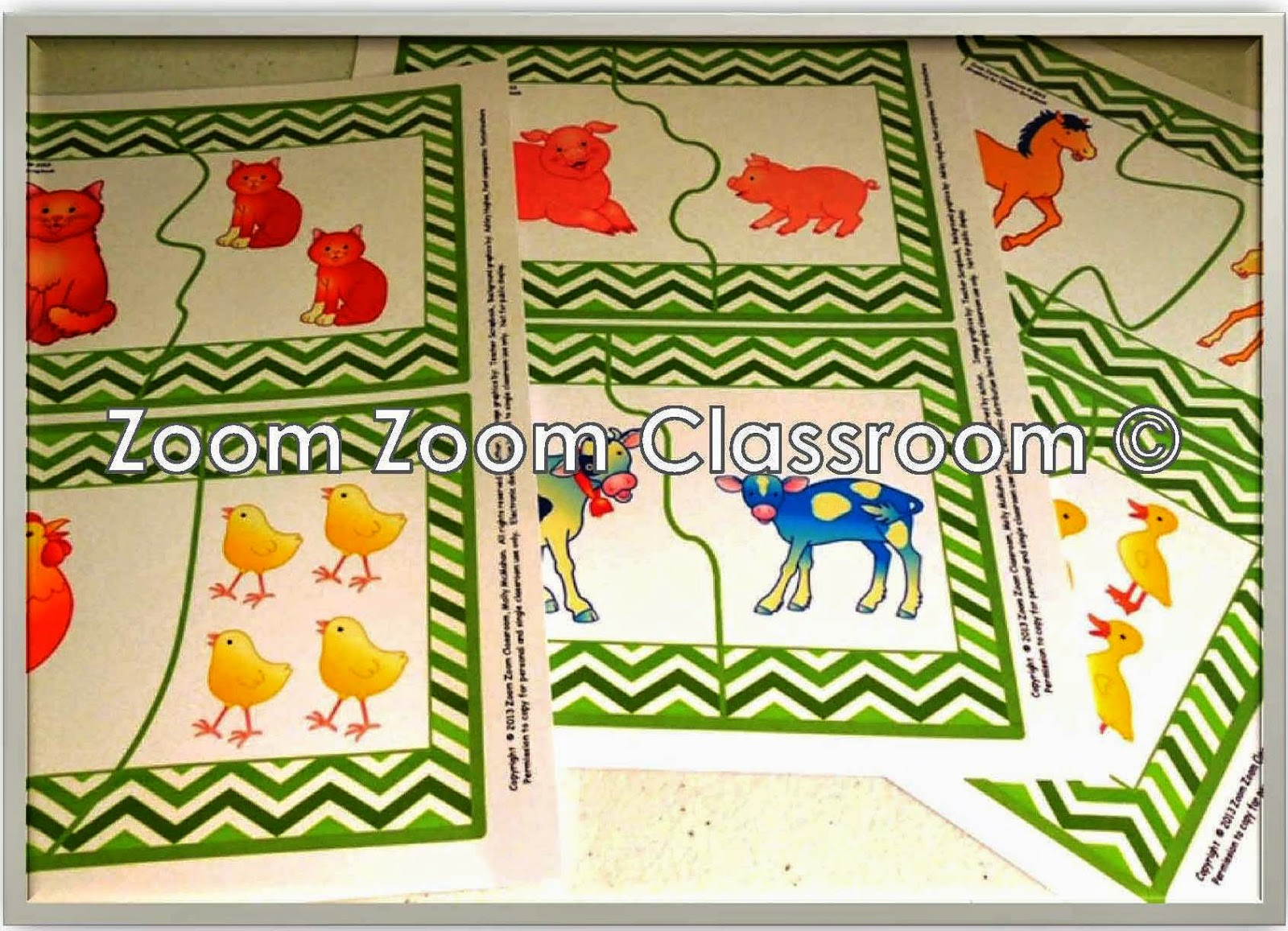 Lessons By Molly Farm Animal Mother And Baby Puzzle Match