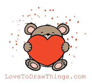 Easy things to draw. Easy valentines drawing. Beginners drawing tutorial