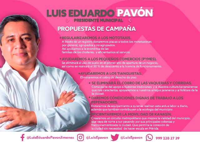 Haremos que Kanasín retome su vocación de desarrollo: Luis Pavón