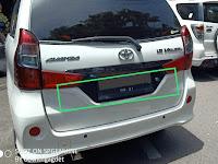 Harga dan Fisik : Ornament License Belakang Toyota Grand Veloz