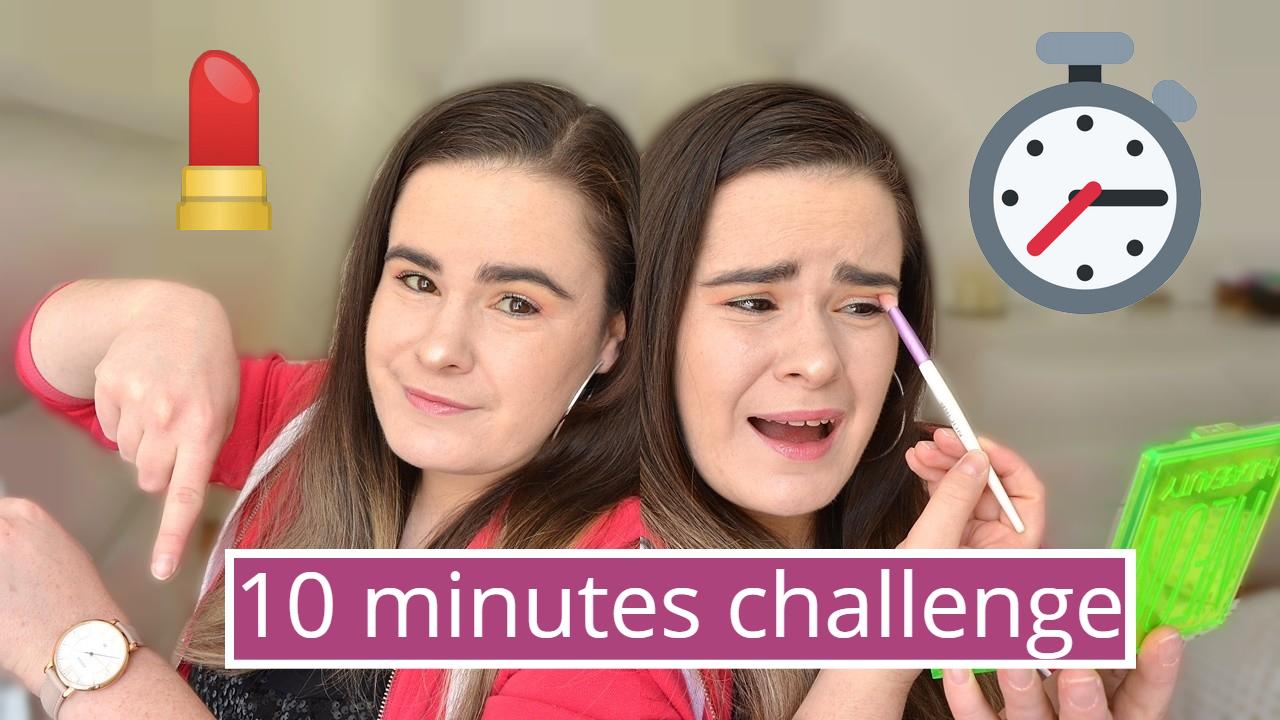 10 minute makeup challenge, je me maquille en 10 minutes, enfin j'essaye