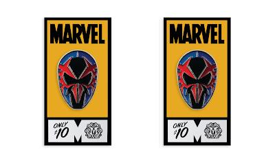 San Diego Comic-Con 2020 Exclusive Spider-Man 2099 Marvel Portrait Enamel Pin by Tom Whalen x Mondo