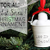 Dollar Store Snow Ball Christmas Ornament