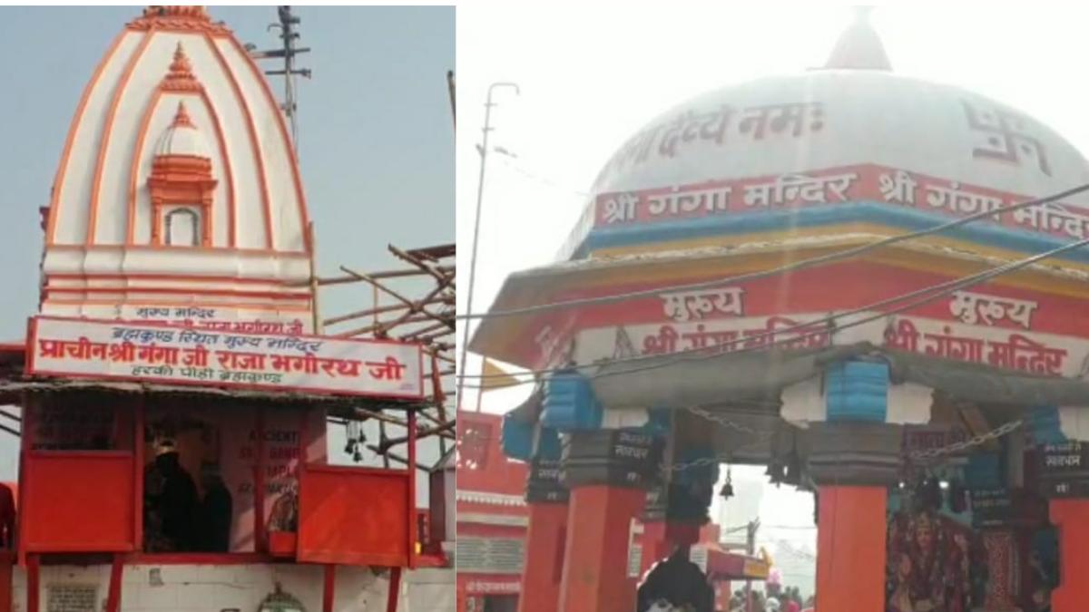 हर की पौड़ी में दो मंदिरों को बेचने का आरोप