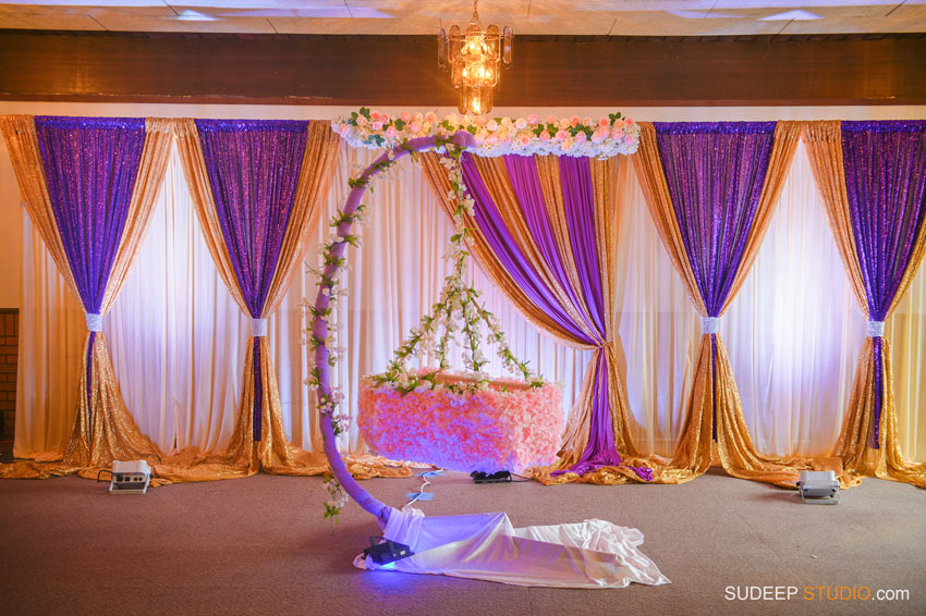 Indian Cradle Ceremony Decoration ideas Northville Farmington Hills SudeepStudio.com Ann Arbor Indian Event Photographer