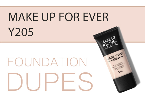 Foundation Dupes Comparisons Make Up For Ever Y205 Alabaster MUFE