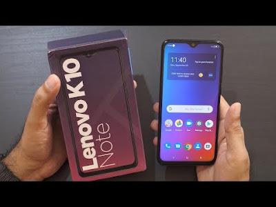 Lenovo K10 Note Smartphone's : Specification
