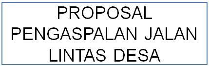 proposal pengaspalan