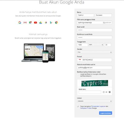 cara buat akun email baru di gmail
