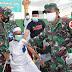 Cegah laju Covid-19, Pangdam I/BB Tinjau Serbuan Vaksinasi Dosis Ke II di Ponpes Al- Kautsar Al-Badar Medan