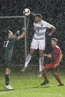 Army West Point, soccer, header, rain