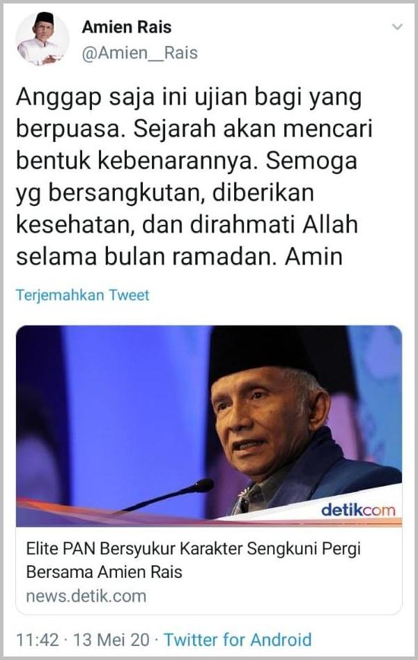 Elite PAN Hina Amien Rais, Warga Muhammadiyah Serukan Tidak Pilih PAN