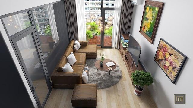 Mẫu phòng khách cực kỳ đơn giản nhưng tinh tế kèm model 3d tham khảo