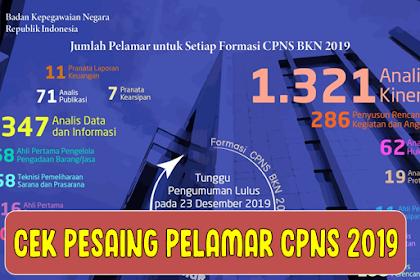 Pelamar Sudah Bisa Lihat Pesaing Formasi CPNS 2019, Cek di Laman sscn.bkn.go.id/spf