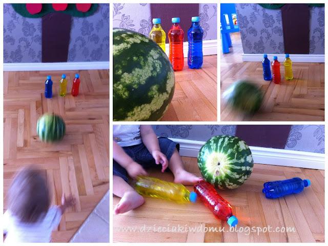 arbuzowe kręgle - zabawa ruchowa dla dzieci