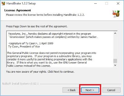Kemudian akan muncul Tab License Agreement, Sobat klik Next saja untuk melanjutkan.