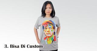 Bisa Di Custom merupakan keuntungan menjadikan kaos sebagai ide souvenir dan promosi
