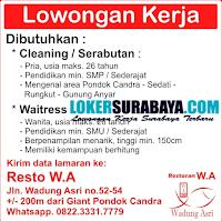 Karir Surabaya di Restaurant Wadung Asri Desember 2019