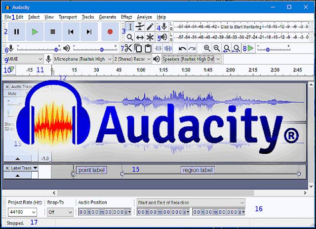 تحميل افضل برنامج تعديل الصوت واضافة مؤثرات تحميل Audacity  برابط مباشر
