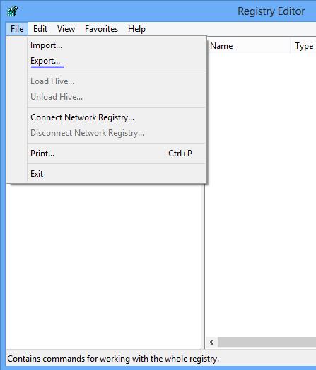 Hướng dẫn sao lưu registry trên Windows