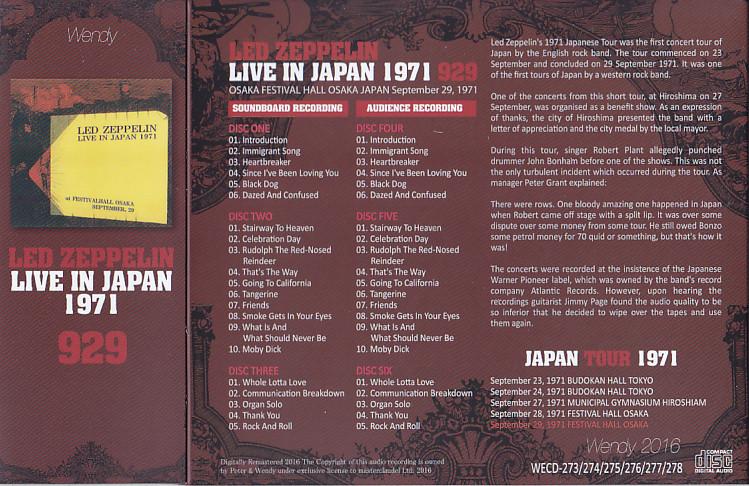 T U B E : Led Zeppelin - 1971-09-29 - Osaka, JP (SBD/AUD